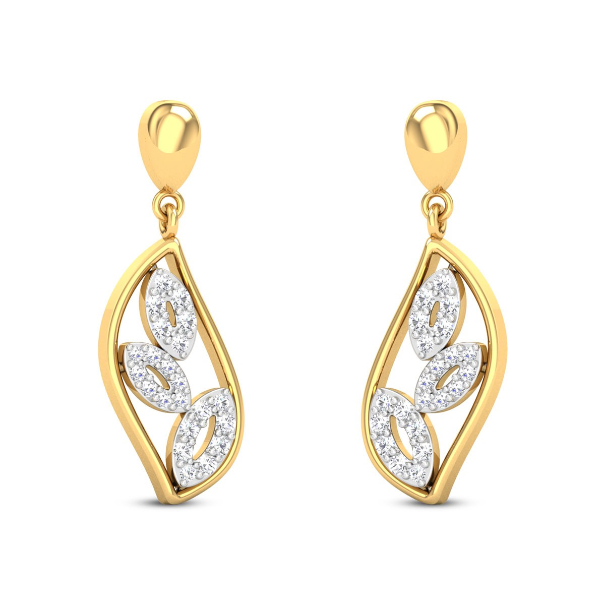 Eta Diamond Hanging Earrings