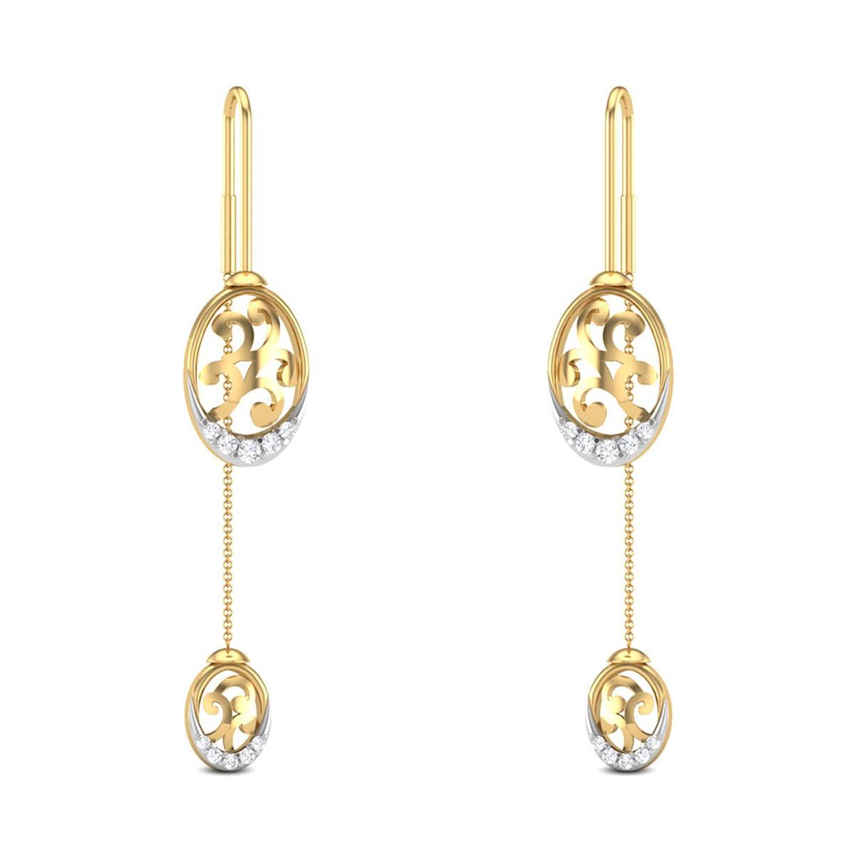 Jaelie Cut Out Sui Dhaga Diamond Earrings