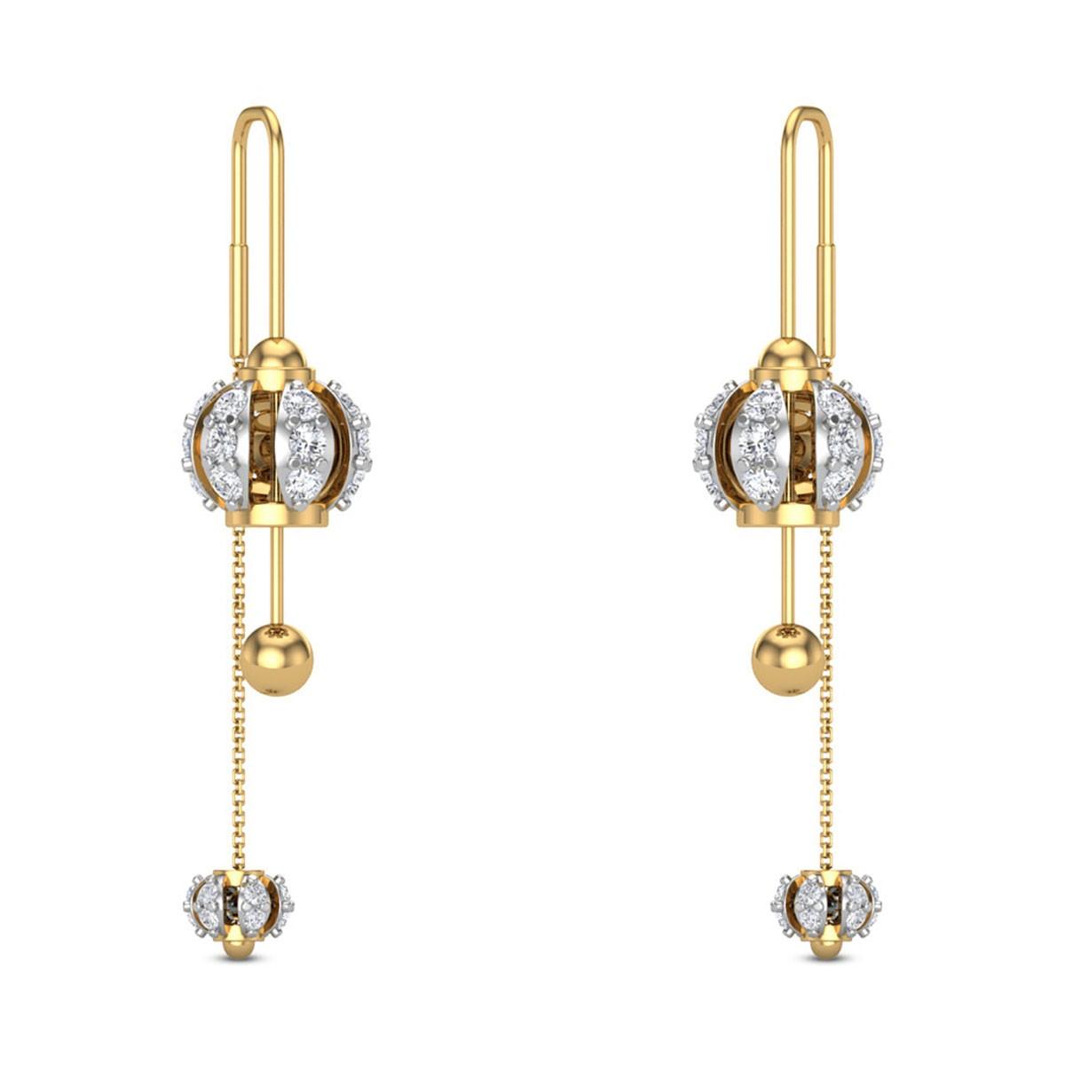 Jasinta Sui Dhaga Diamond Earrings