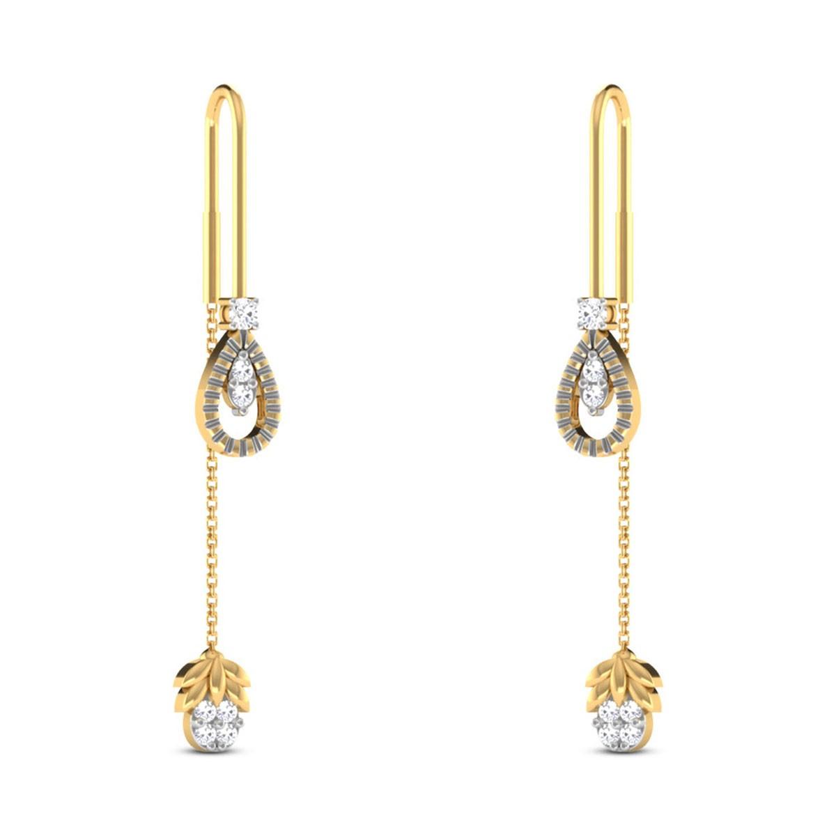 Jaselle Sui Dhaga Diamond Earrings
