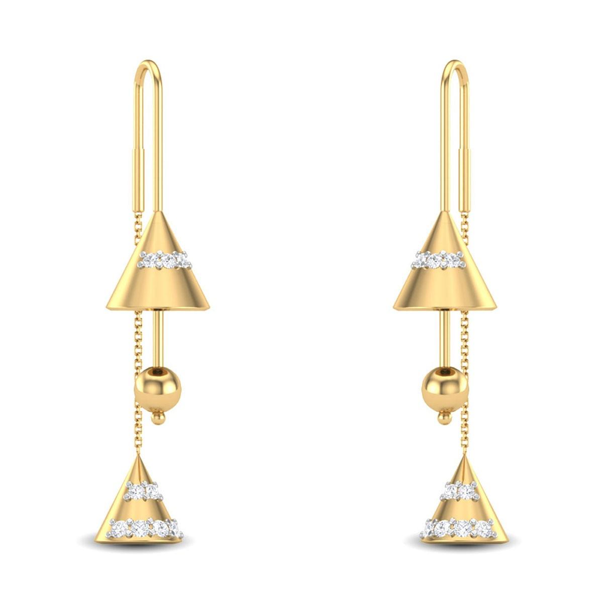 Janisa Sui Dhaga Diamond Earrings