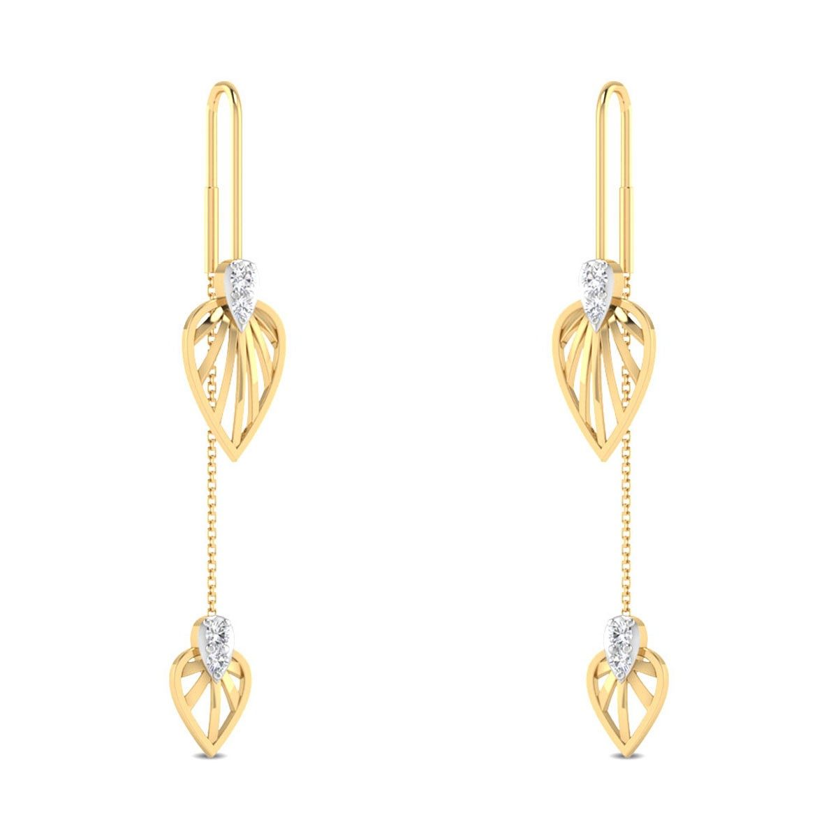 Janice Leafy Sui Dhaga Diamond Earrings