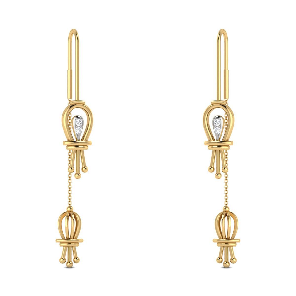 Janeth Sui Dhaga Diamond Earrings