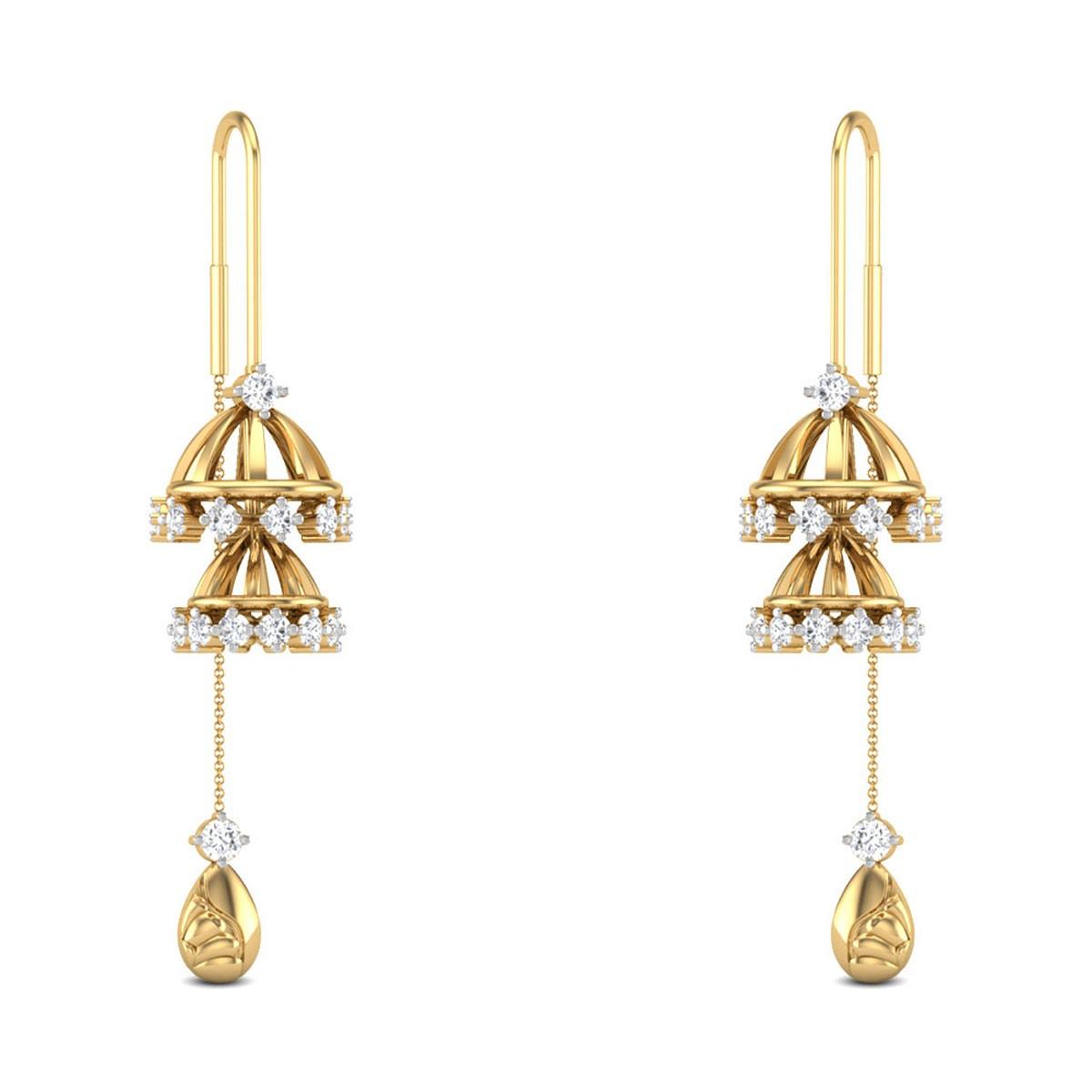 Jacoba Sui Dhaga Diamond Earrings
