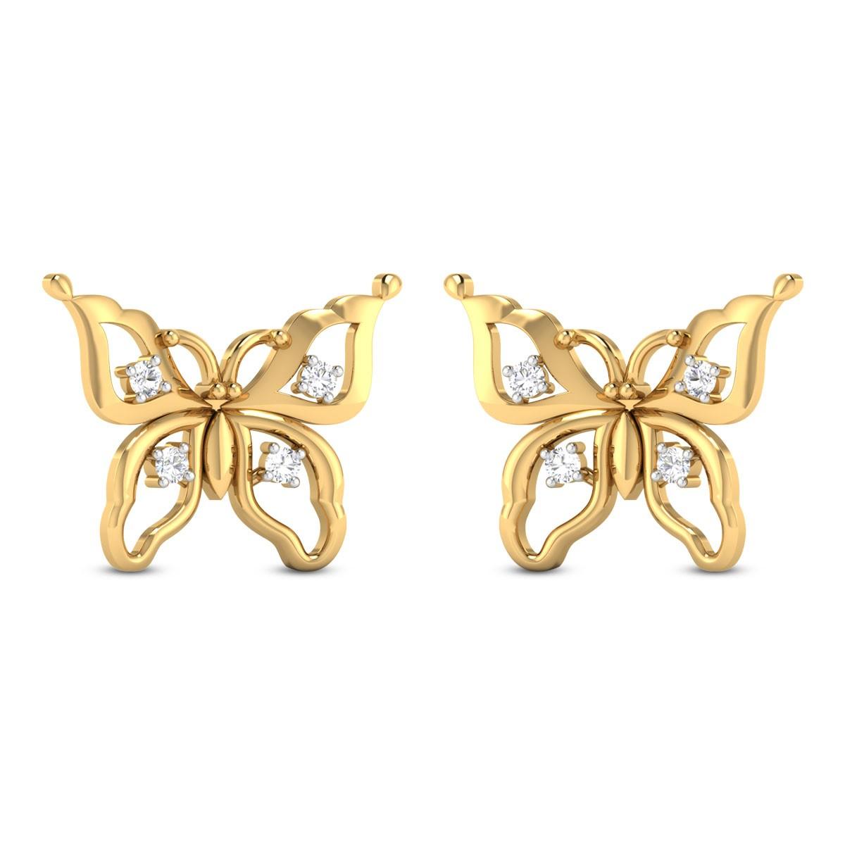 Joelene Butterfly Diamond Stud Earrings