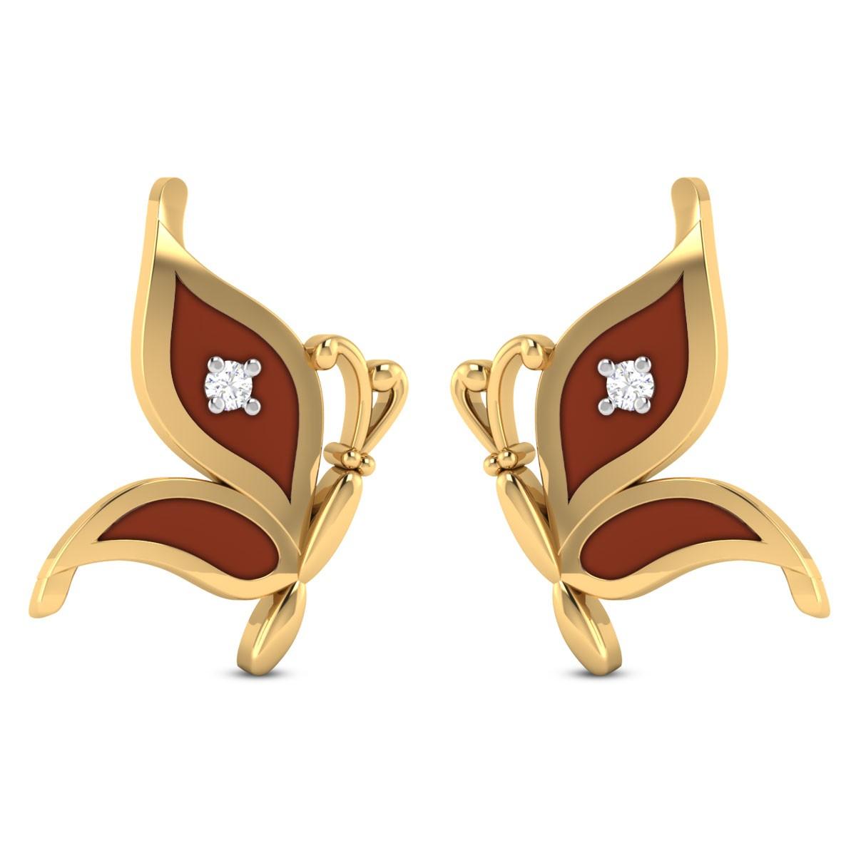 Jocely Butterfly Diamond Stud Earrings