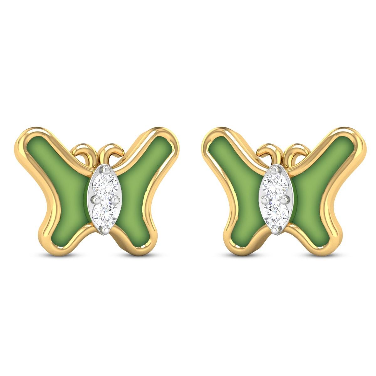 Joaquina Butterfly Diamond Stud Earrings
