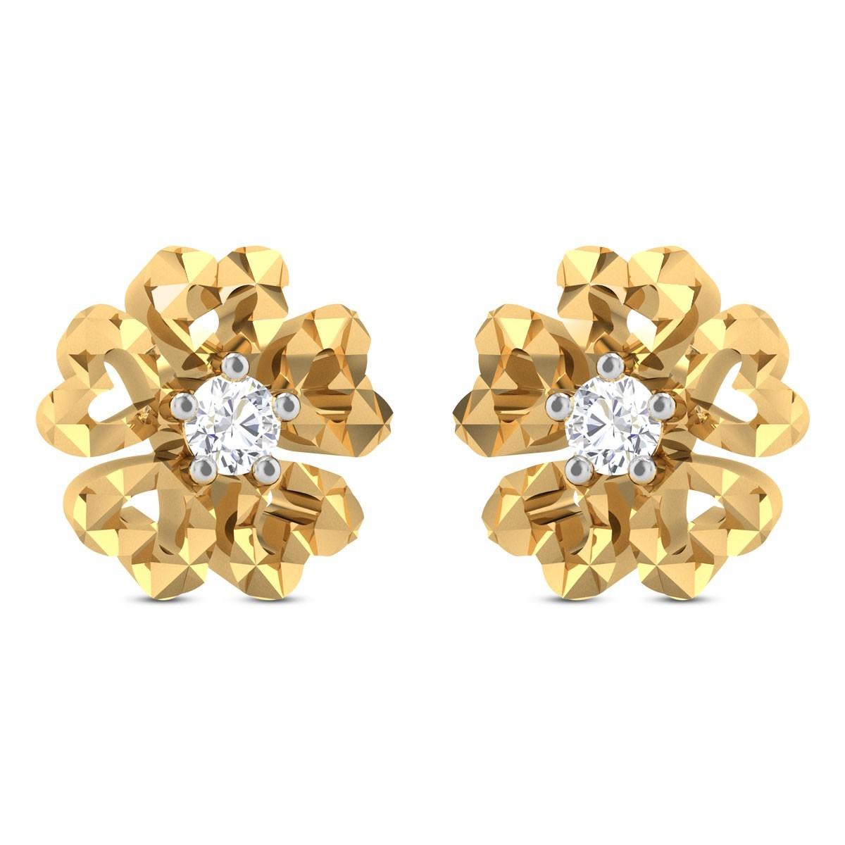 Haakon Floral Diamond Earrings
