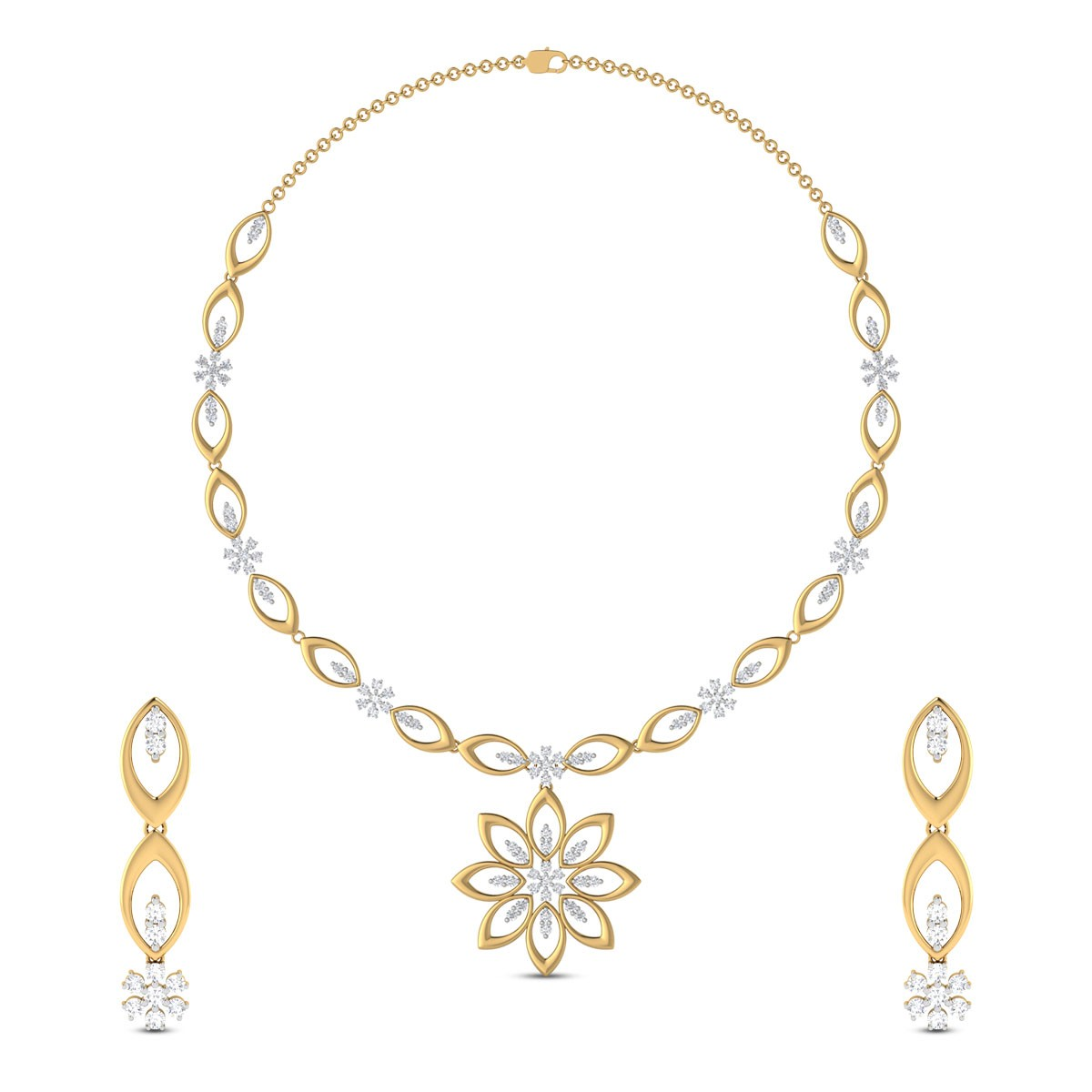 Jhanvi Diamond Necklace