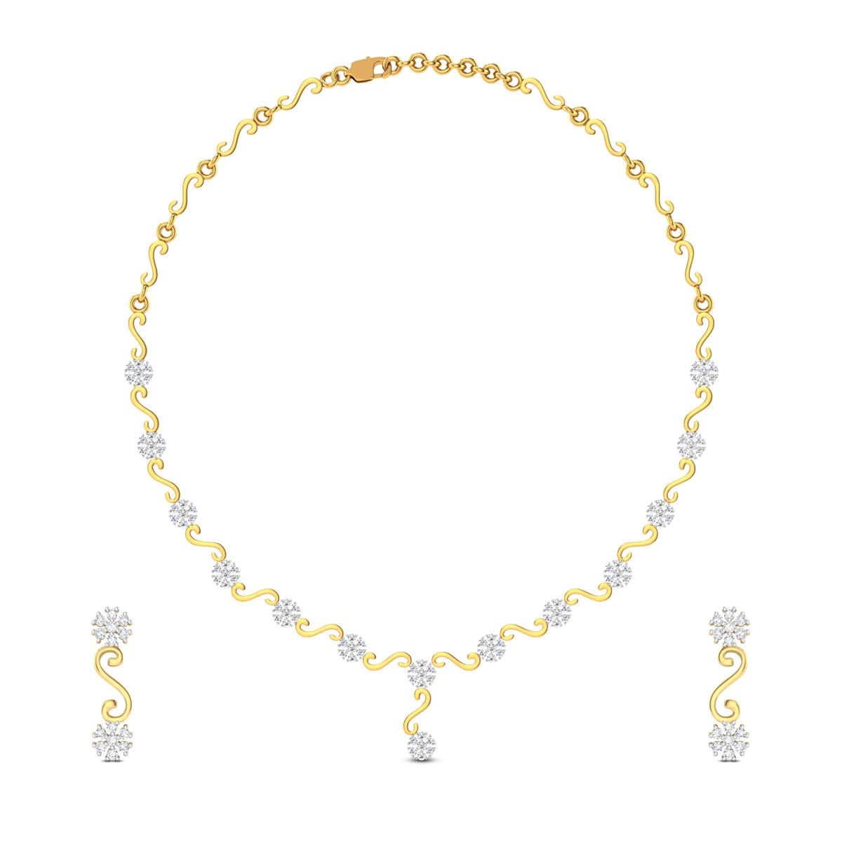 Mahalath Diamond Floral Necklace
