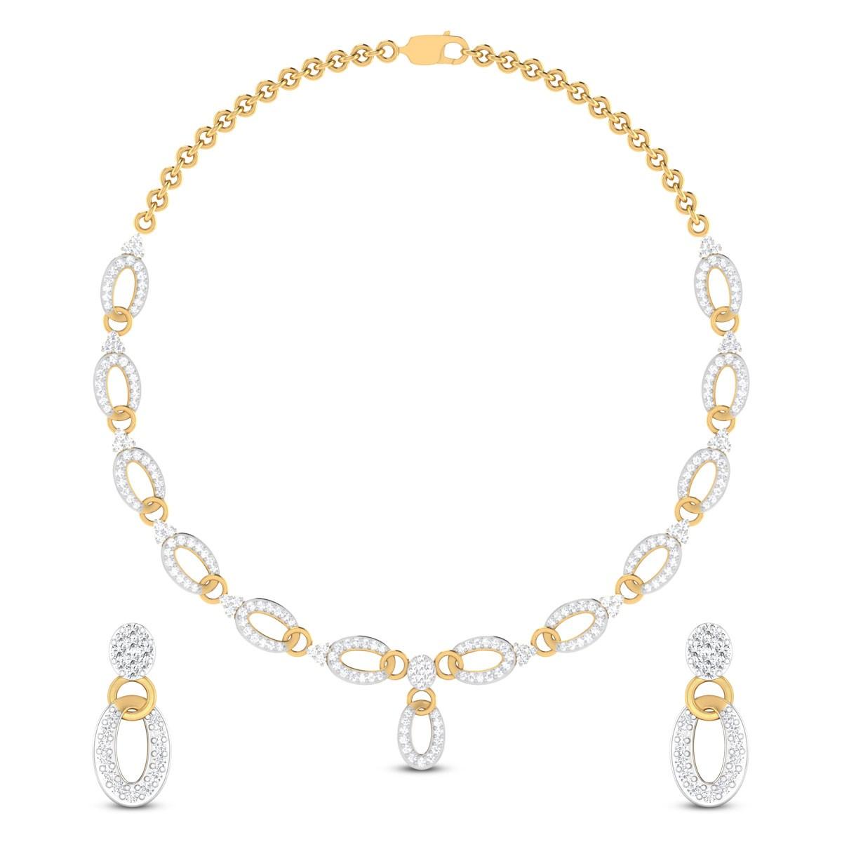 Fiorenza Diamond Necklace Set