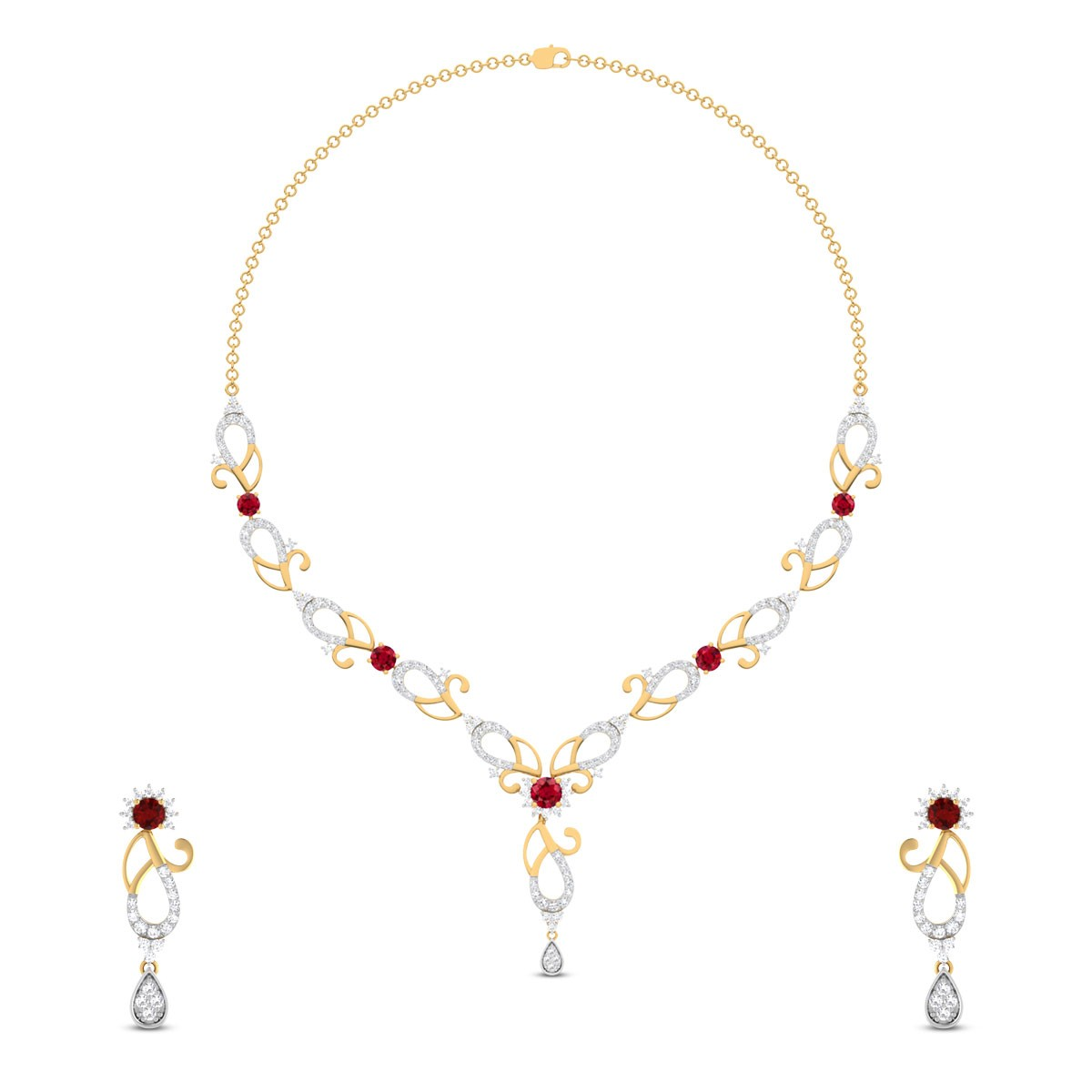 Traditional Chank Diamond Necklace