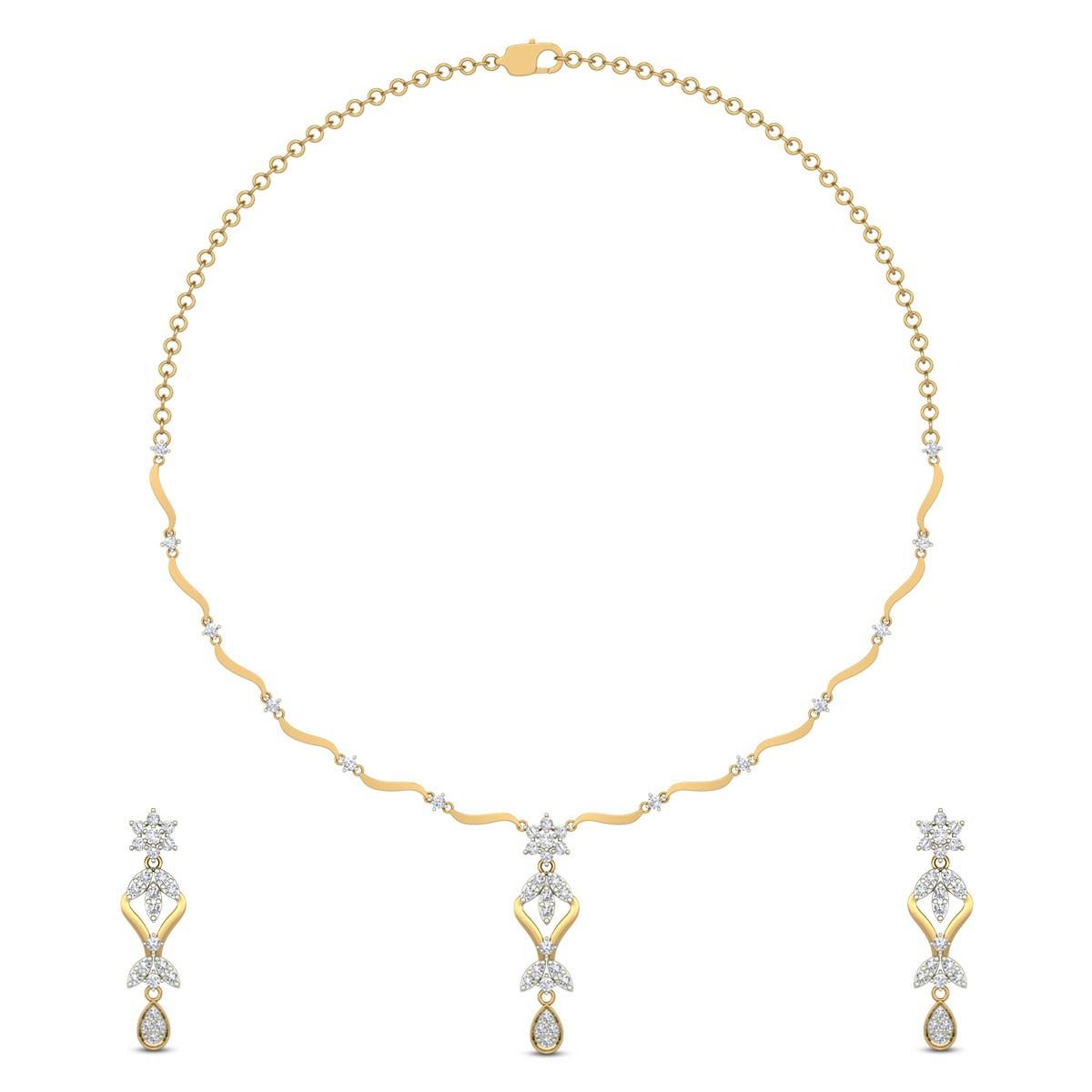 Eshal Diamond Necklace Set