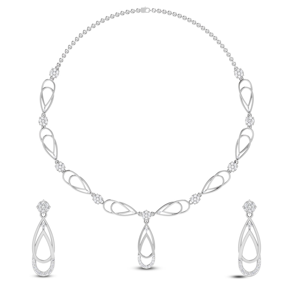 Chameli Diamond Necklace Set