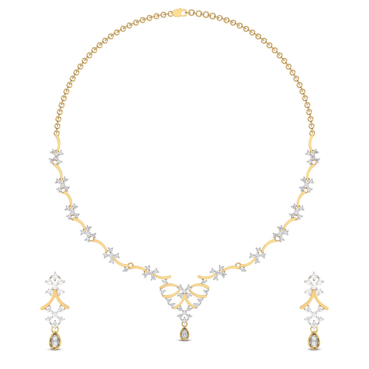 Calantha Diamond Necklace Set