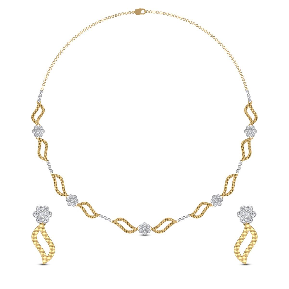Brionne Diamond Necklace Set