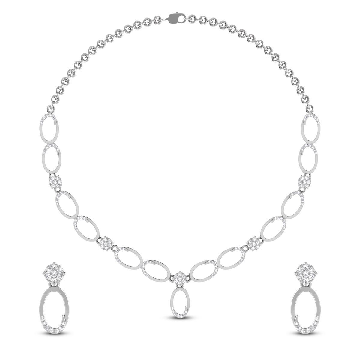 Bakula Diamond Necklace Set