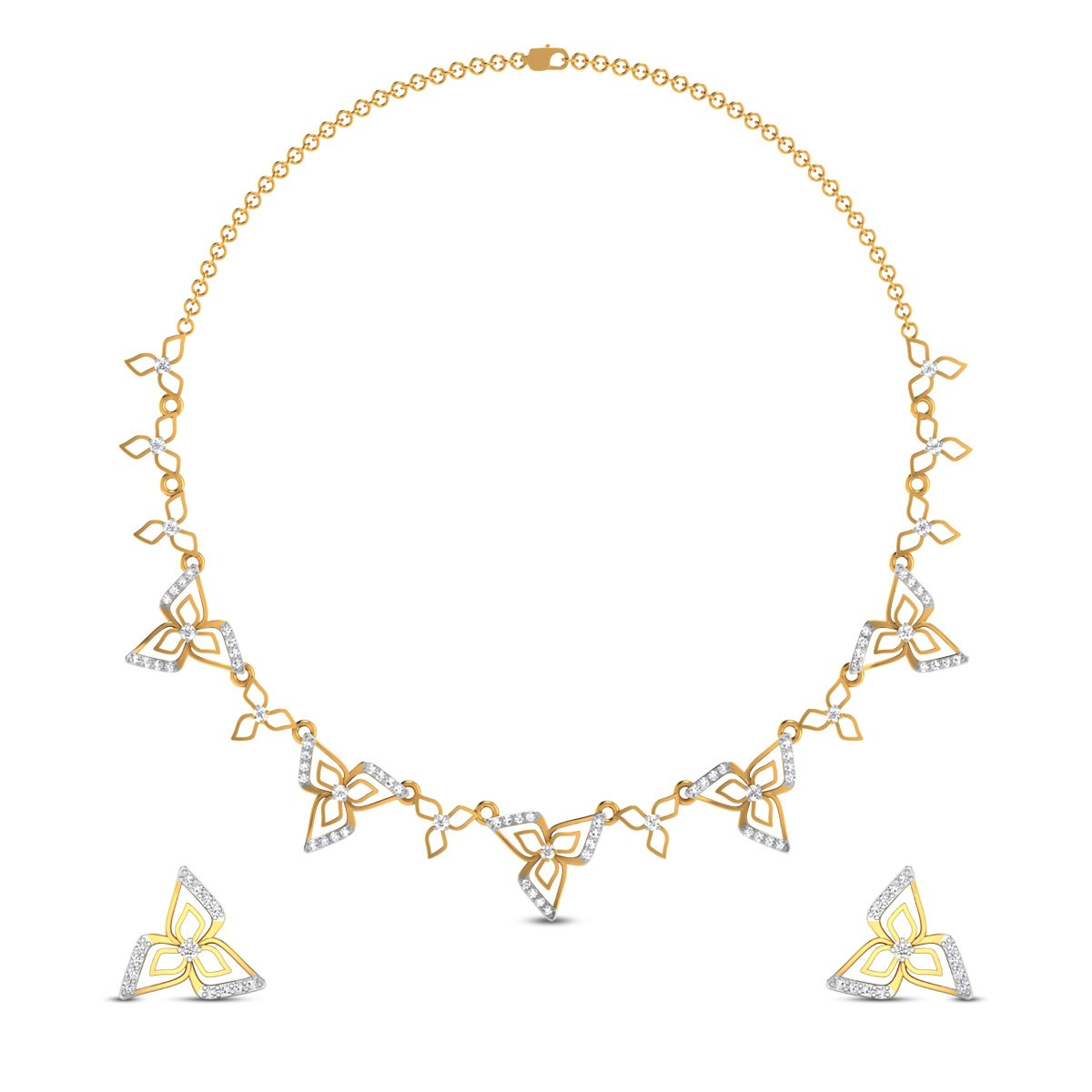 Aukeilia Diamond Necklace Set