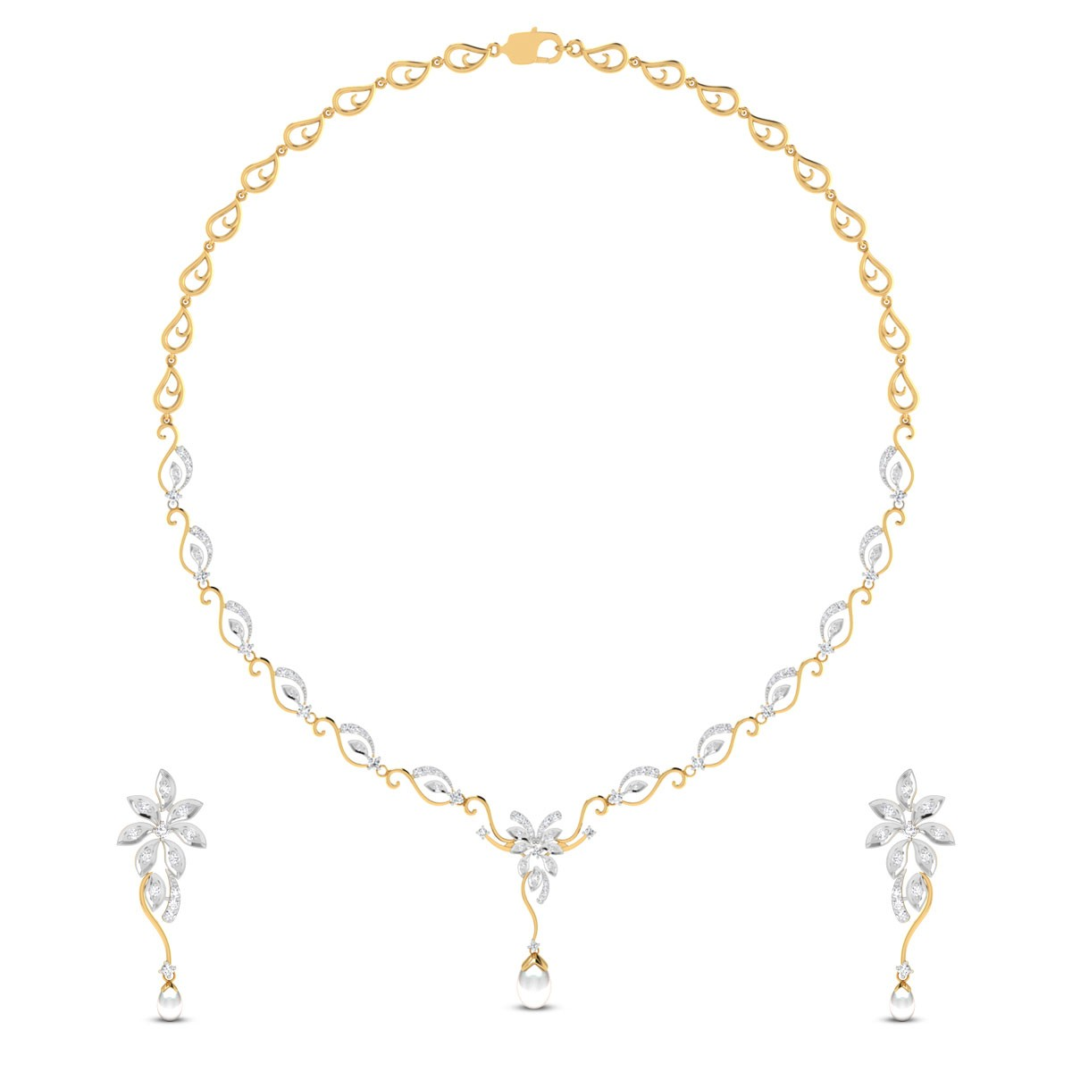 Sheehan Diamond Floral Necklace