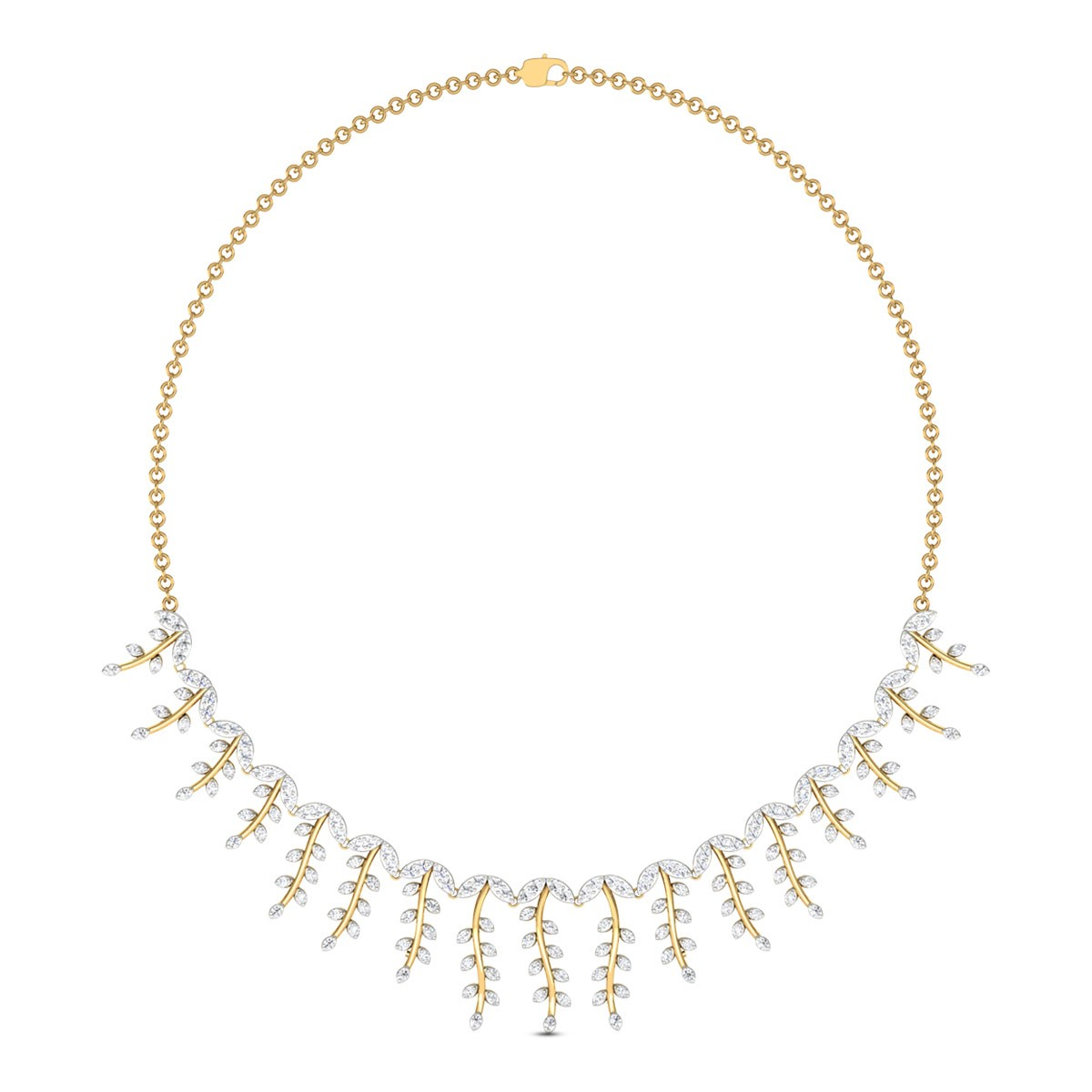 Creeper Frill Diamond Necklace