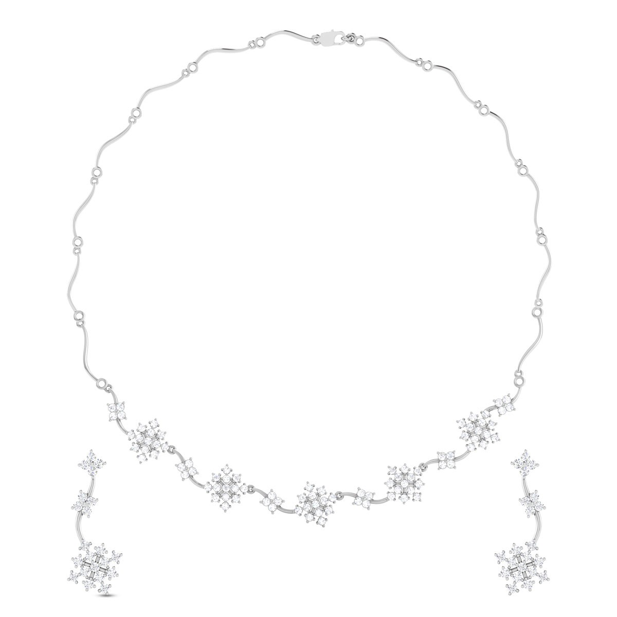 Corinna Floral Necklace Set