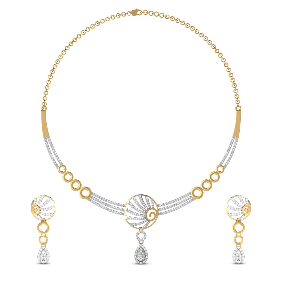 Braelynn Diamond Necklace Set