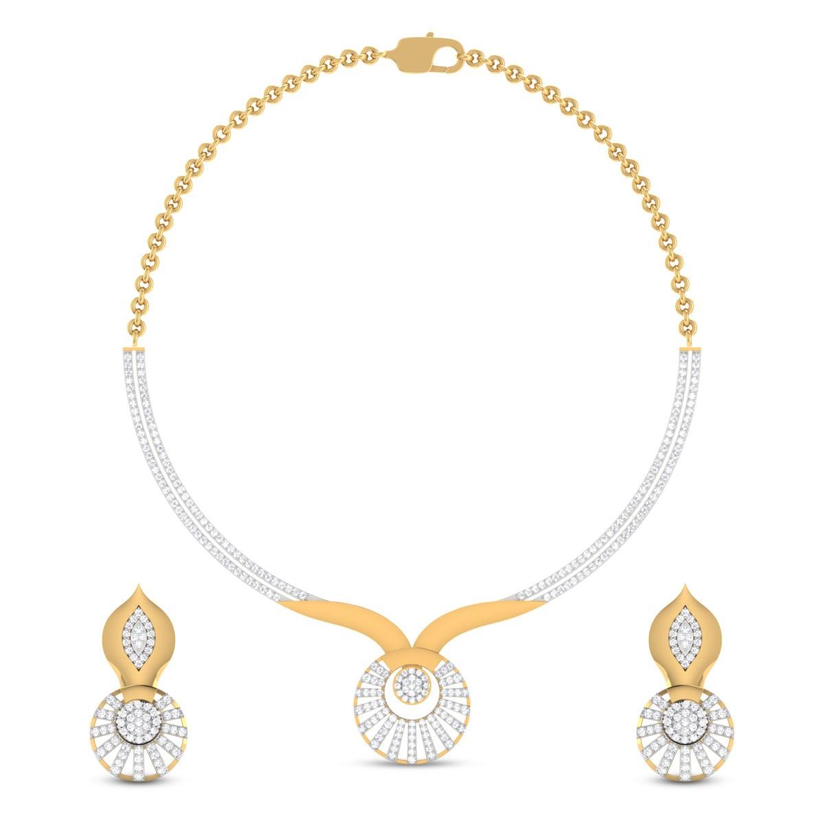 Analia Diamond Necklace Set