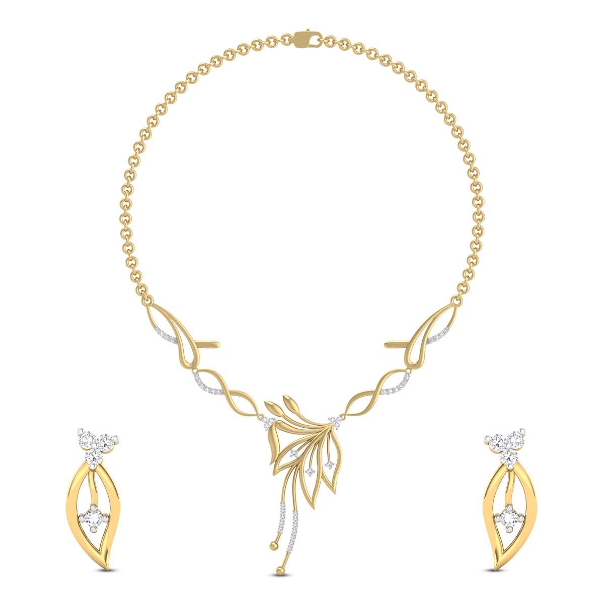 Ulani Floral Diamond Necklace Set