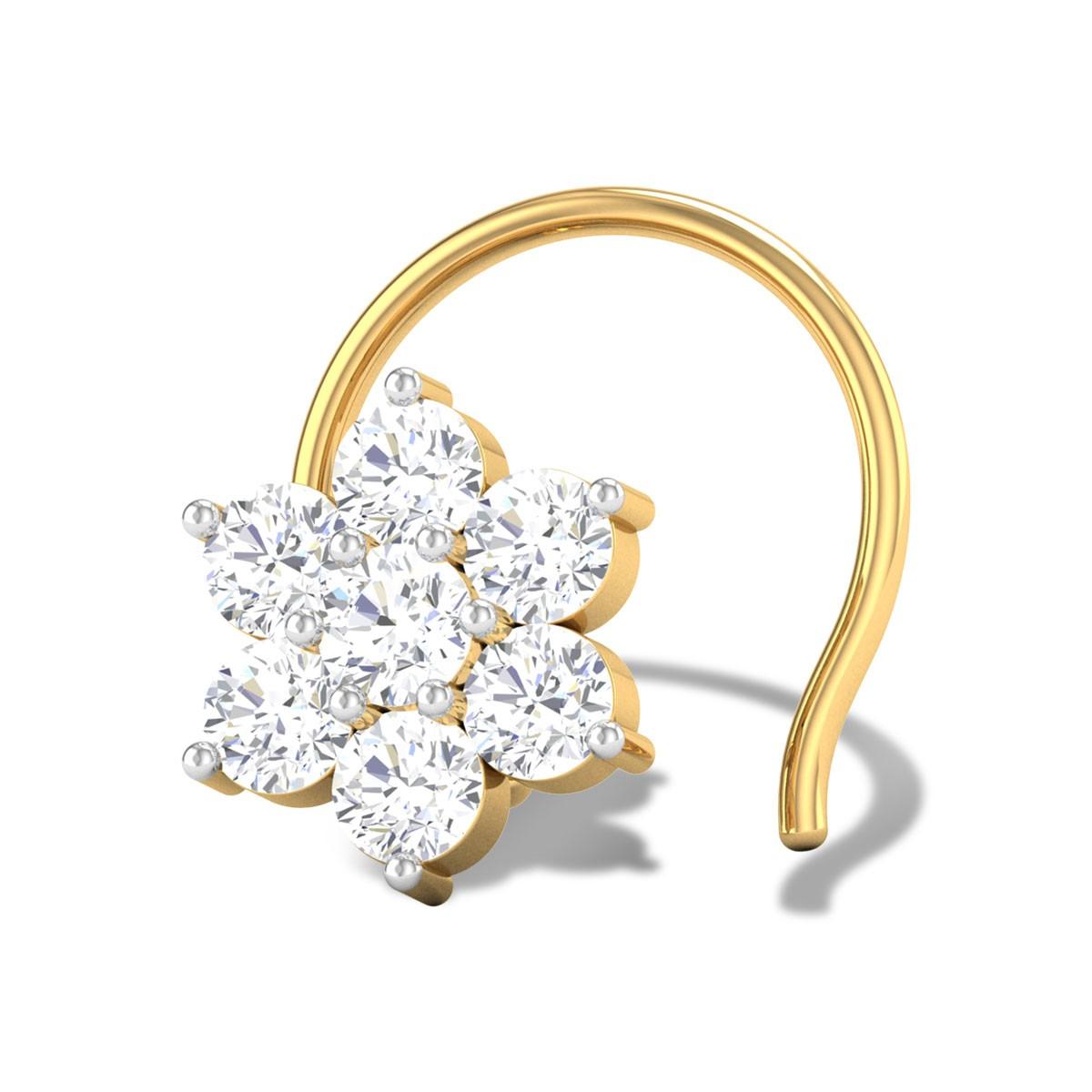 Classy Seven Stone Diamond Nosepin