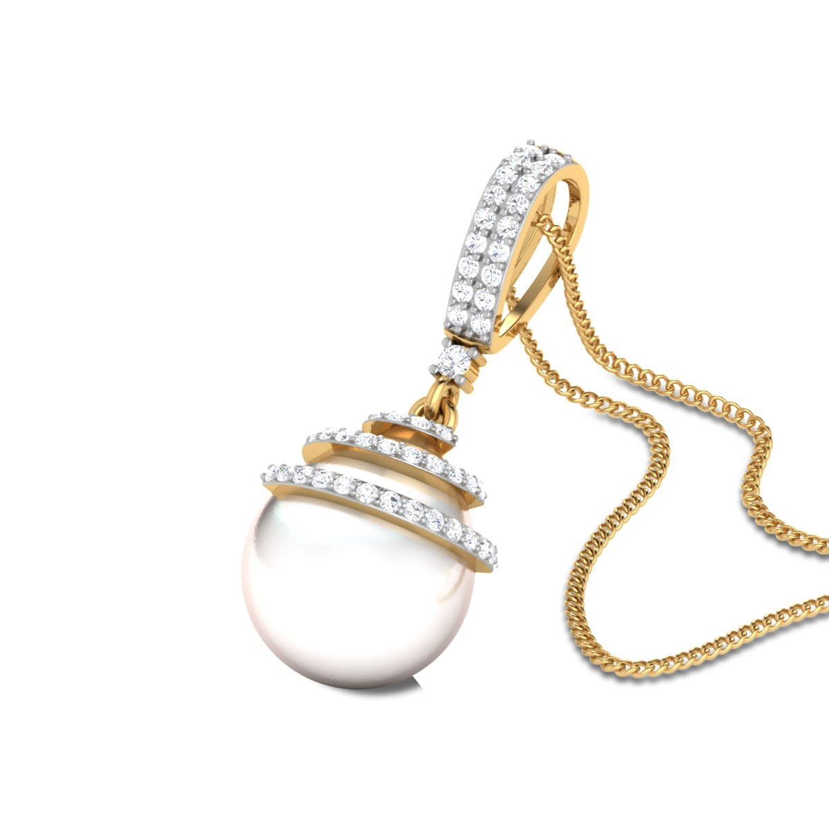 Pearl symphony Diamond Pendant