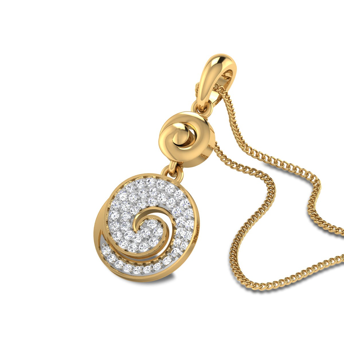 Reiley Swirl Diamond Pendant