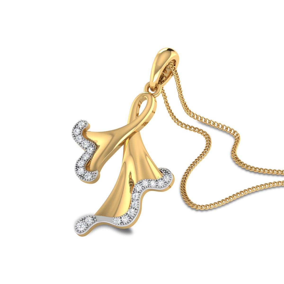 Peryn Floral Diamond Pendant