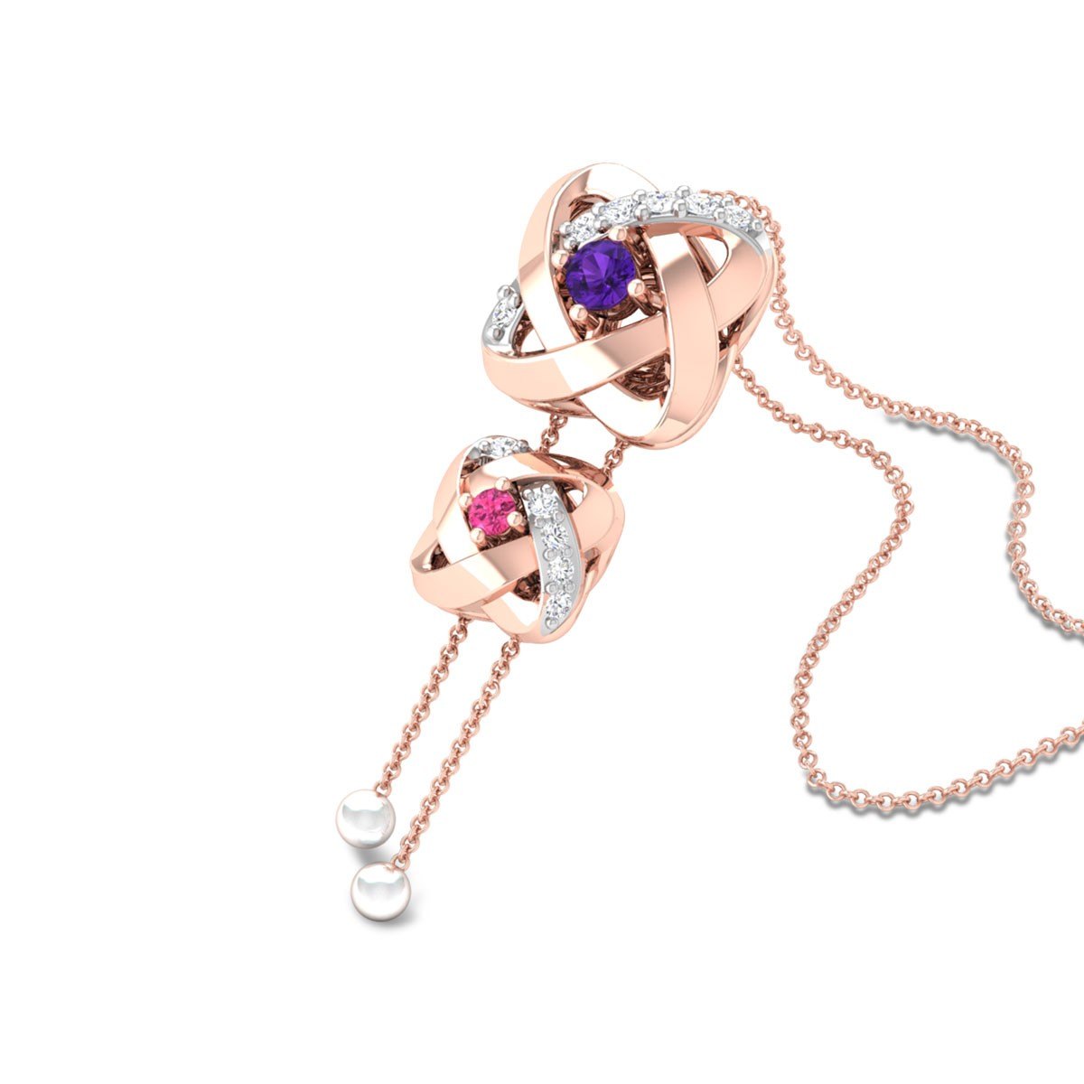 Nayely Diamond Pendant with Chain