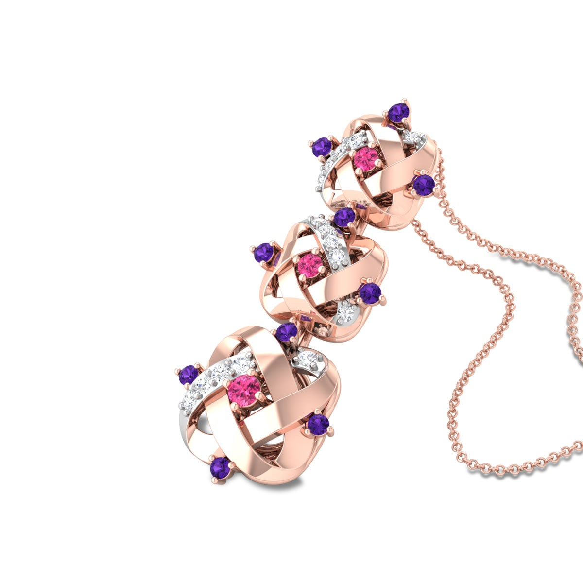 Lalasa Diamond Pendant with Chain