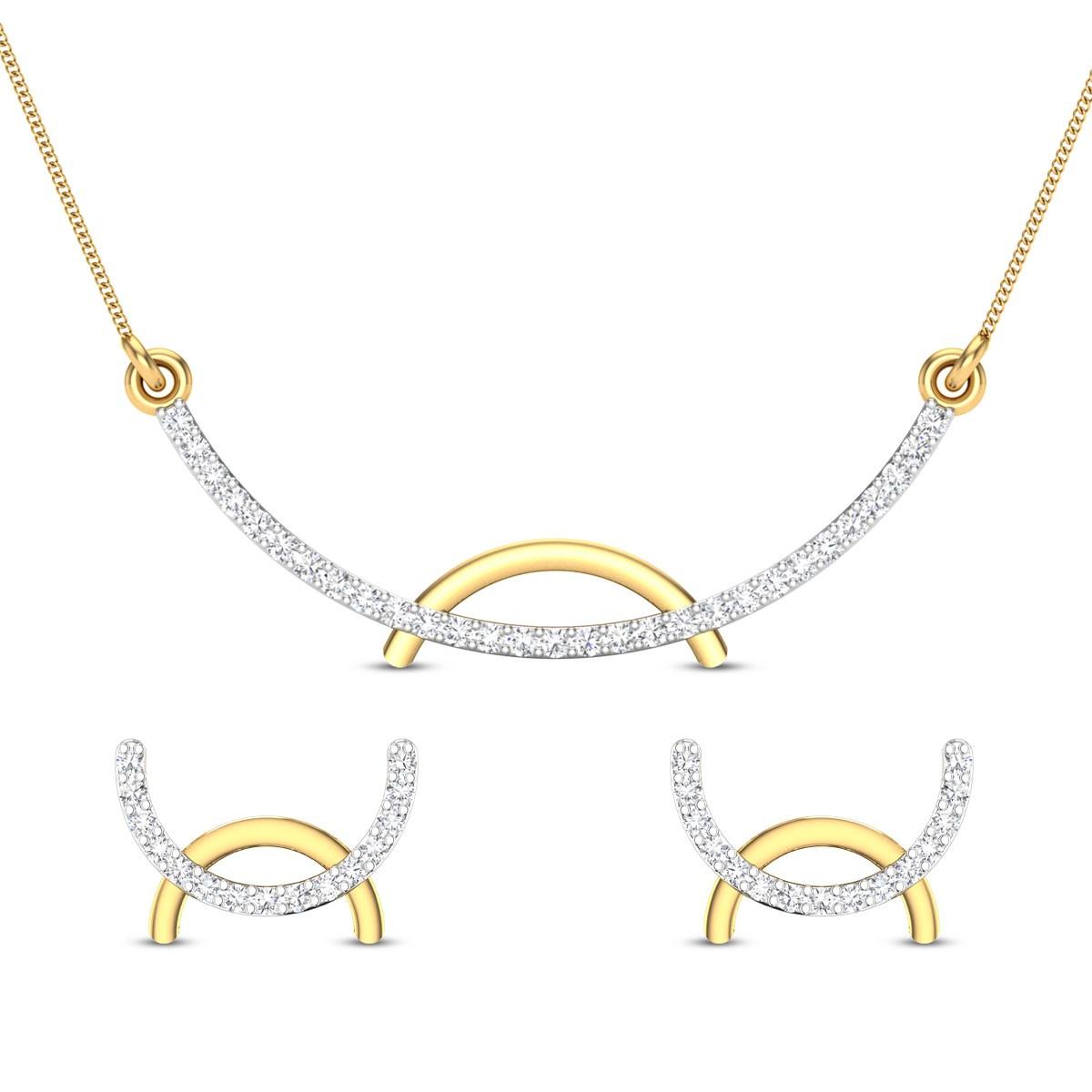 Zaina Diamond Pendant Set
