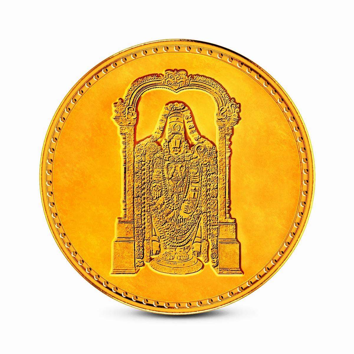 1 Gram 22Kt Hallmarked Balaji Gold Coin