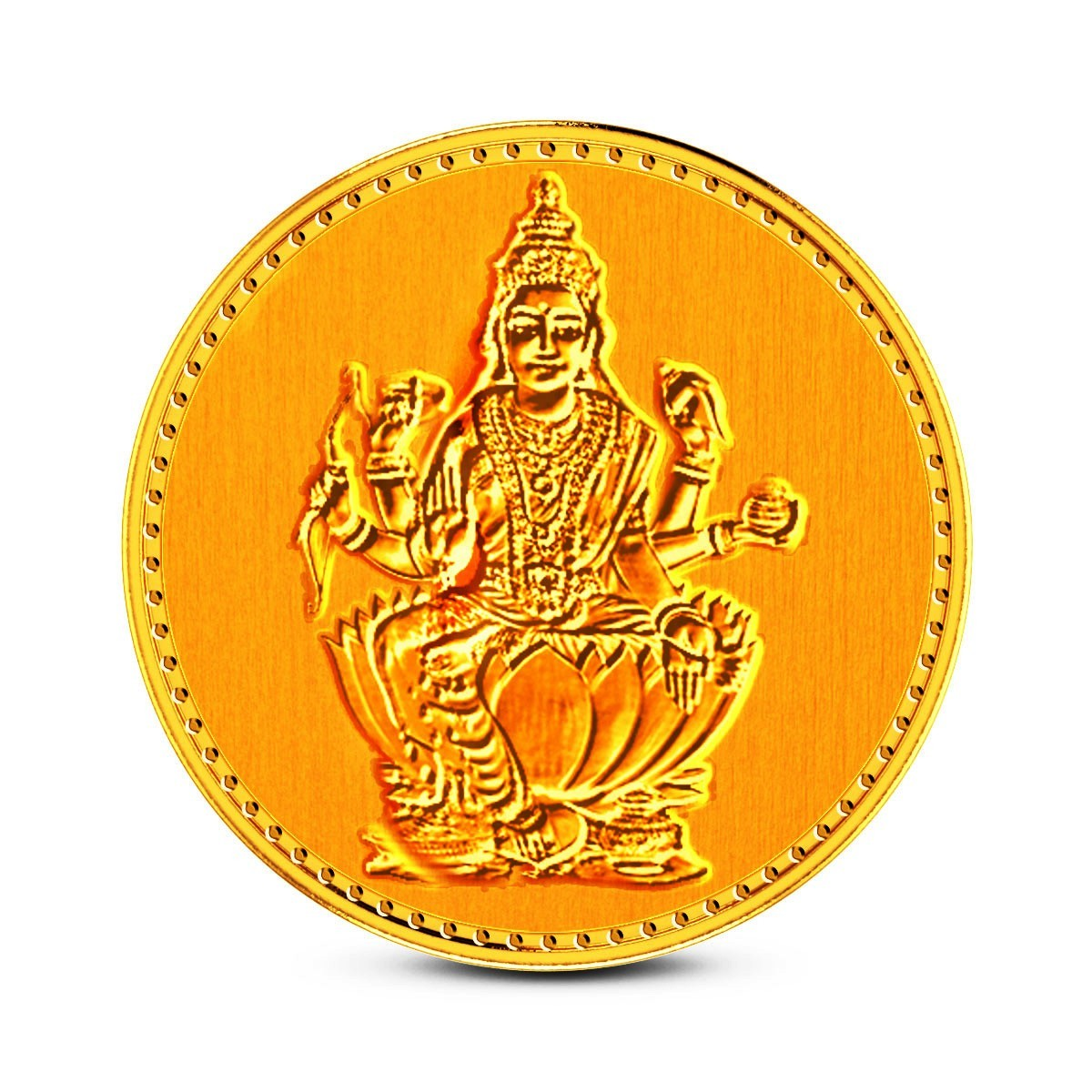 1 Gram 22Kt Hallmarked Dhanalaxmi Gold Coin