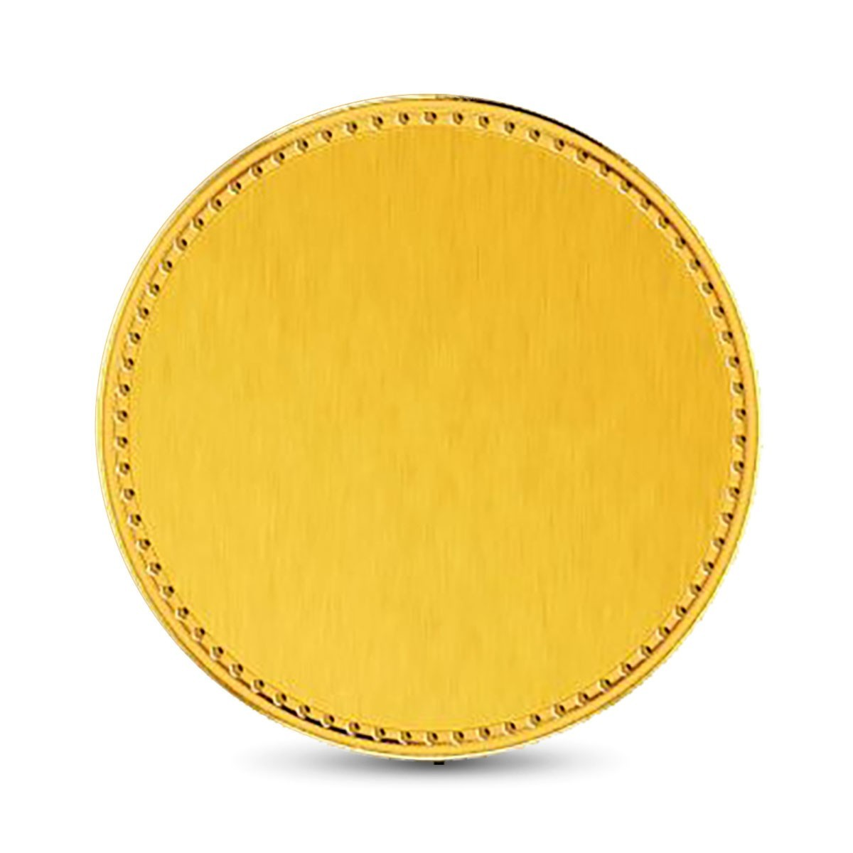 1 Gram 22Kt Hallmarked Plain Gold Coin