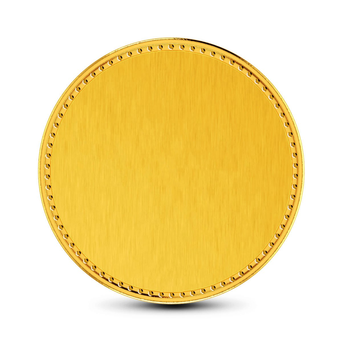 8 Gram 24Kt Plain Gold Coin