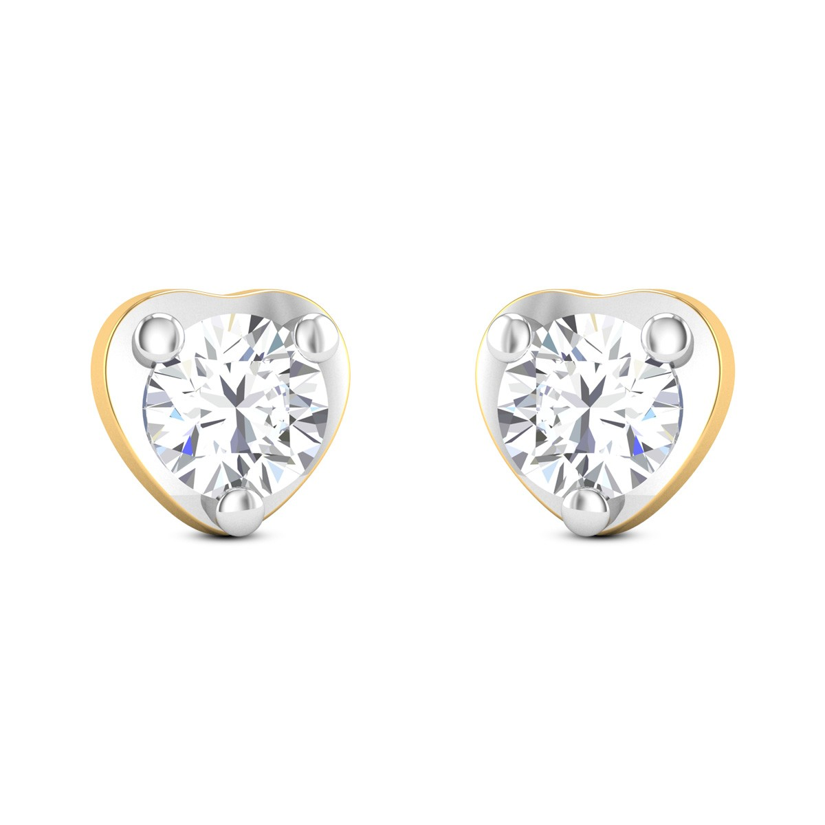 Twinkling Heart Solitaire Earrings