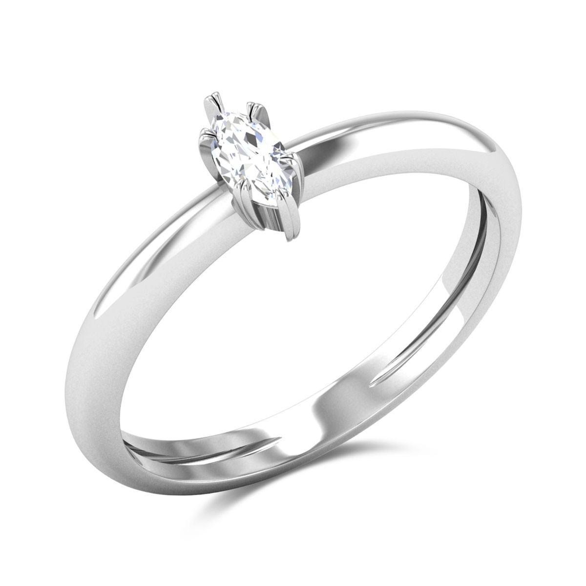 Oswald Marquise Cut Solitaire Ring
