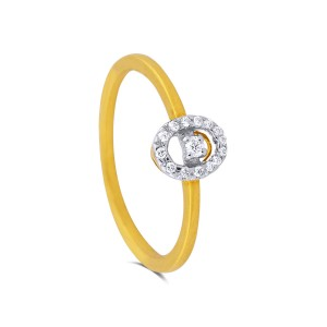 Callen Yellow Gold Diamond Ring