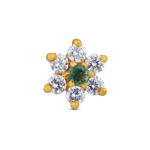 Anvi Yellow Gold Diamond Nosepin