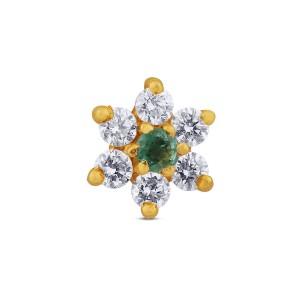 Anvi Yellow Gold Diamond Nosepin
