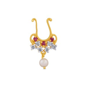Parinaaz Yellow Gold Diamond Nosepin