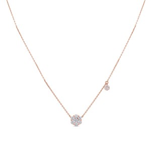 Meryl Diamond & Yellow Gold Pendant with Chain