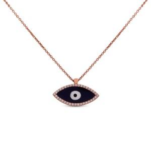 Third Eye Yellow Gold Diamond Pendant with Chain