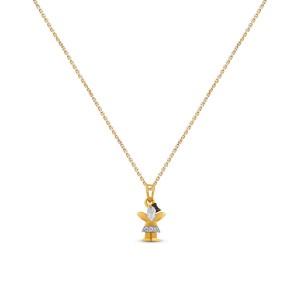 Elara Girl's Diamond Pendant with Chain