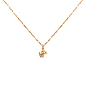 Koala Kid's Yellow Gold Diamond Pendant with Chain for Kid's