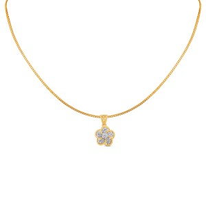 Siya Yellow Gold Diamond Pendant with Chain
